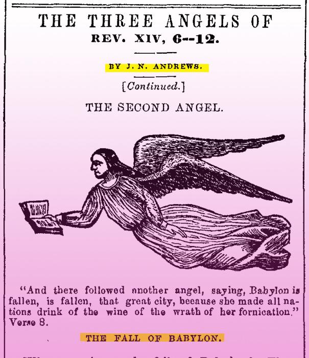 "J. N. Andews, ""Pad Babilona"" – Trojstvo uništava ličnost Boga"
